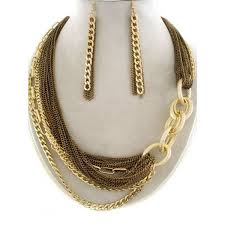 layered necklace chain images Multi layered chain necklace set jpg