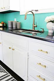 design blue tile backsplash white country kitchen cabinet with