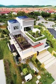 rooftop garden green roof design house exterior design house