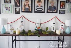 wooden decorations for home christmas archives our house now a home wooden snowman craft easy