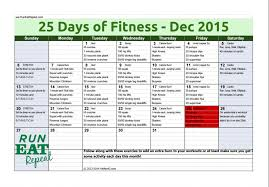 25 days of fitness challenge december 2015 run eat repeat