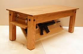 coffee table coffee table gun safe regarding glorious build diy