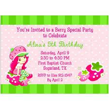 printable birthday invitations strawberry shortcake strawberry shortcake invitations template free budget template free