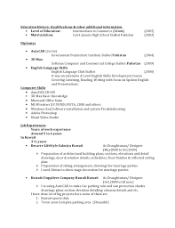 Qualifications For A Job Resume by Resume For Draughtsman