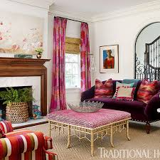 Pink Living Room by Pink In Every Room Traditional Home