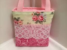 fabric gift tote bag shabby chic patchwork fabric tote bags make