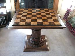 chess table and chairs set chess table furniture best woodworking how to make a chess board