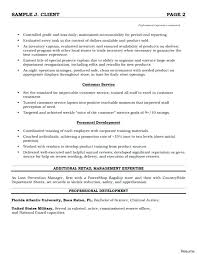 retail resume exles customer service retail resume sle retail resume
