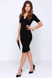 chic dress chic black dress bodycon dress notched dress 44 00
