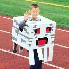 Steve Minecraft Halloween Costume Homemade Minecraft Skeleton Costume Halloween