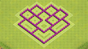 coc map layout th6 clash of clans town hall 6 defense coc th6 best hybrid base layout