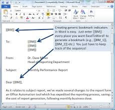 how to quickly and accurately populate word documents with excel