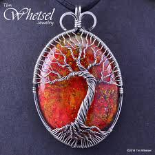 handmade necklace pendants images Sterling silver tree of life wire wrapped orgonite pendant jpg