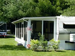 deck awnings with screens wheel awning screen rooms bills camper