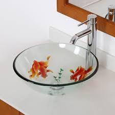 koi fish bathroom glass vessel sink stylish bathroom glass