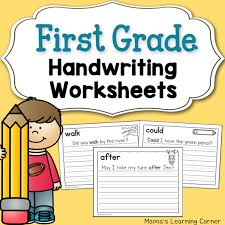 handwriting worksheets for kids dolch first grade words mamas
