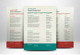 clean and modern resume and cover letter free download
