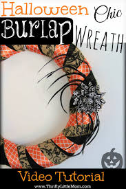 how to make a chic burlap halloween wreath thrifty little mom