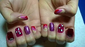 pink u0026 red mix u0026 match nails u2013 nice nails by victoria