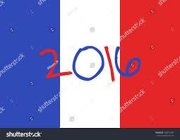 French Flag Background France 2016 Football Poster France Flag Stock Vektorgrafik