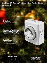 Ge 7 Day 8 Outlet by Amazon Com 24 Hour Timer Outlet Fosmon 3 Prong Dual Outlet Plug