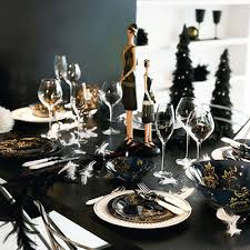 Black Table Centerpieces by Contemporary New Years Eve Decorations And Inspiration