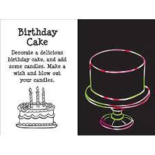 happy birthday scratch u0026 sketch an art activity book for