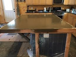 How To Make A Concrete Table by How To Make A Kitchen Island With A Concrete Countertop Start