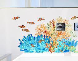 set of 10 tropical fish decals undersea bathroom decals