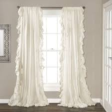 White Curtains Marvellous Ruffled Curtains White 45 For Curtains For Small