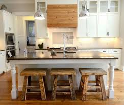 White Kitchen Island With Stools by Kitchen Room White Oak Kitchen Island Stools Black Wooden Bar