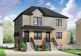 Multi Family House Plans Triplex Multi Family Plan W2096 V1 Detail From Drummondhouseplans Com