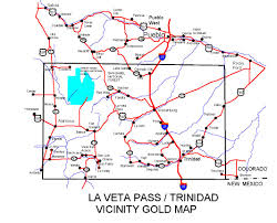 Trinidad Map Colorado Gold Maps Gold Placers And Gold Panning And Metal