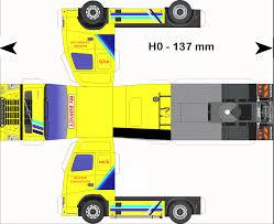 paper truck kenworth paper model custom buses vw laranja jpg 1600 1054