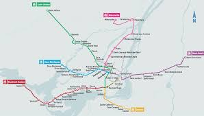 Montreal Subway Map by Train Place Bonaventure