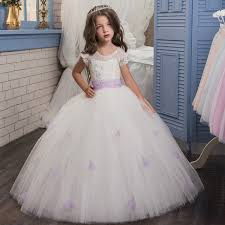simple communion dresses new lace gown flower dresses simple kids