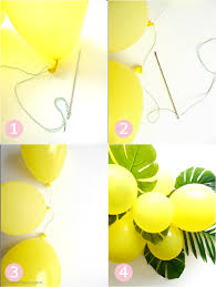 diy balloon u0026 fronds tropical party centerpiece party ideas
