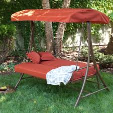 charming freestanding porch swing beds with canopy and metal frame