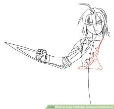 how to draw full metal alchemist characters 12 steps