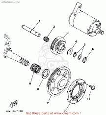 yamaha yfm350fww 1989 big bear starter clutch schematic partsfiche