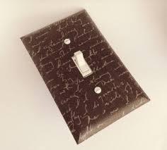 home decor boynton beach neutral script switchplate light switch plate fabric light