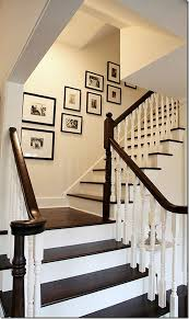 Painting A Banister White Staircase Makeover Inspiration And Progress White Trim Dark