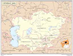 Central Asia Map by Map Of Central Asia Asia U2014 Planetolog Com