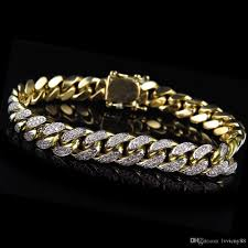 10mm diamond 2017 mens solid 10k yellow gold miami curb cuban link diamond