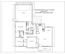 bradford floor plan the bradford with alley loaded option ron terry construction