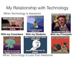 Technology Meme - my relationship with technology meme not a webquest