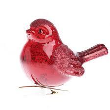 mercury glass cardinal ornament birds butterflies basic