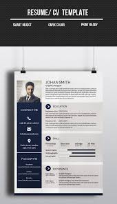 1 page resume template corporate one page cv resume template promotion pinterest cv