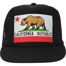 Black Flag Hat California Republic Original State Flag Snapback Hat On Black