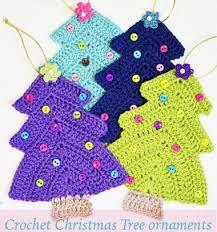 easy crochet tree ornaments free crochet pattern